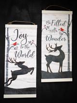 Canvas Reindeer Banner