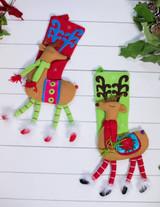 Felt Christmas Reindeer Stocking