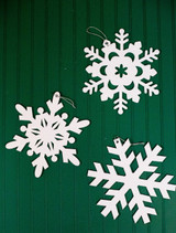 Felt Glitter Snowflake Christmas Ornaments