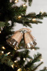 Glass Bell Christmas Ornament with Twine