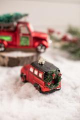 Glass Car Wreath Christmas Tree Ornaments