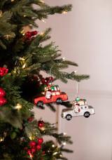 Glass Christmas Car Christmas Tree Ornaments