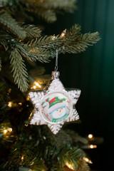 Glass Snowman Star Christmas Tree Ornaments