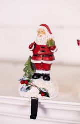 Jolly Santa Present Stocking Holder
