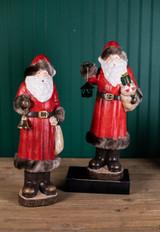 Santa with Fur Figurine