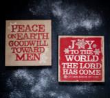 Burlap Christmas Sign