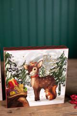 Vintage Christmas Wall Decor Deer