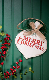 Beige Merry Christmas Ornaments