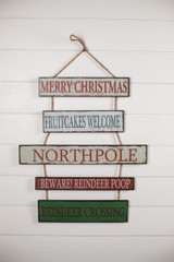 Christmas Signs Wall Décor