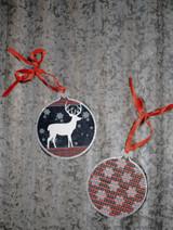 Reindeer Metal Christmas Ornaments