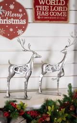 Metal Silver Swirl Reindeer