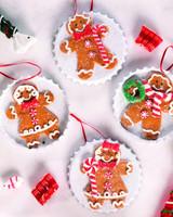 Gingerbread Men Metal Bottlecap Christmas Tree Ornaments