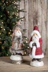 Burlap Coat Santas