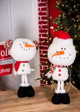 Plush Standing Snowman