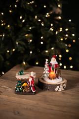 Resin Light Up Santa Mantle Scenes