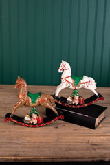 Small Resin Rocking Horse Christmas Decor