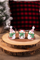 Snowman Scarf Christmas Ornaments