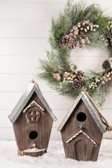 Wood Galvanized Metal Birdhouse