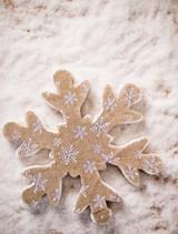 Burlap Snowflake Christmas Tree Ornaments