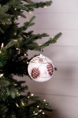 Shatterproof Pinecone Ball Christmas Tree Ornaments