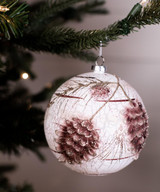 Shatterproof Pinecone Christmas Tree Ornaments Ball