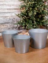 Galvanized Metal Rustic Buckets