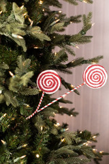 """24"""" Frosted Lollipop Christmas Spray"""