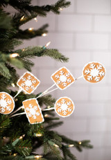 Brown and White Gingerbread Cookie Spray