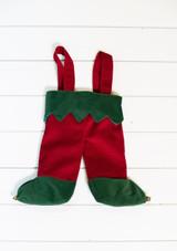 "14"" Elf Feet Stocking with Suspenders"
