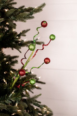 Red Green Curly Sequin Ball Spray