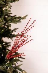 Glitter Ball Red Christmas Tree Spray