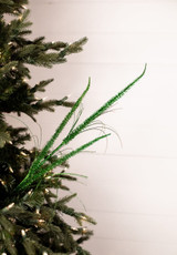 Glitter Triple Reed Grass Christmas Tree Spray