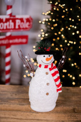 Large Snowman with Scarf Figurine