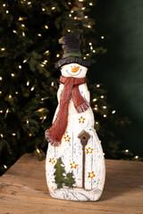 Light Up Snowman Figurine