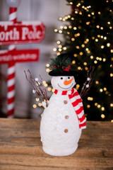 Snowman with Scarf Figurine