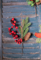 Red Berry Twig Pine Pick