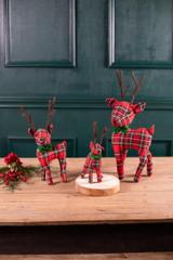 Plush Plaid Reindeer - Set of 3