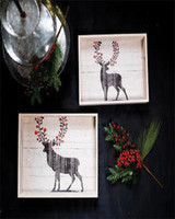 Reindeer Trays - Set of 2
