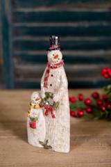 Resin Sparkly Snowman Family