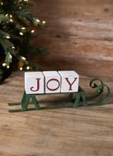 Green Sled with Joy Blocks