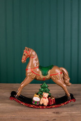 "10x11"" Traditional Rocking Horse Decor"