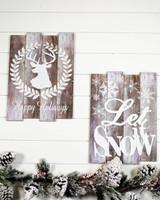 Woodland Christmas Wall Signs
