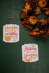 Pumpkin Spice and Pie Wood Hanging Fall Wall Décor