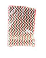 "14"" x 72"" Red and Green Chevron Fabric Garland/Runner"