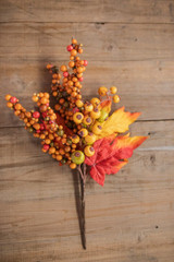 """14"""" Fall Mix Berry Leaves Pick"""