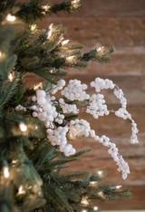 "18"" White Dew Berry Christmas Sprays Weather Resistant"