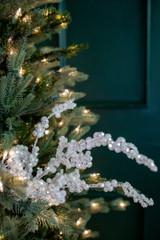 "18"" Snowy White Glitter Dew Berry Christmas Spray"