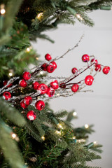 "24"" Ice Crabapple Branch Christmas Tree Sprays"