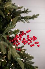 """29"""" Cardinal Red Crabapple Christmas Tree Sprays"""