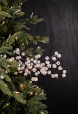 "29"" Snowy White Crabapple Christmas Tree Spray"